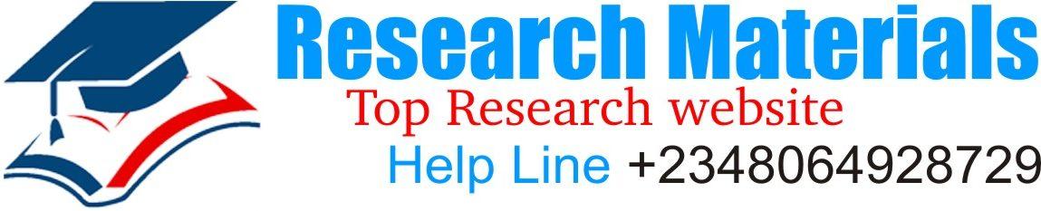 Research Materials Website